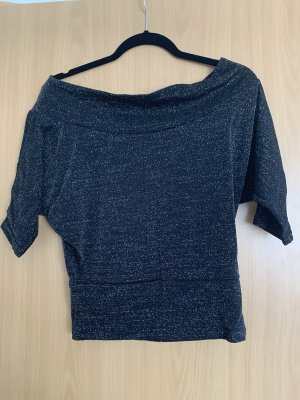 Clockhause Off-The-Shoulder Top black-silver-colored