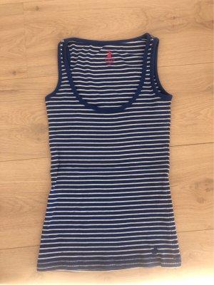 Tally Weijl Basic topje wit-blauw