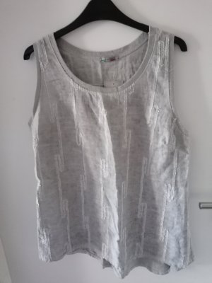 Made in Italy Long Top light grey