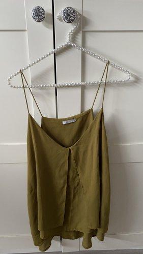 H&M Spaghettibandtopje olijfgroen Polyester