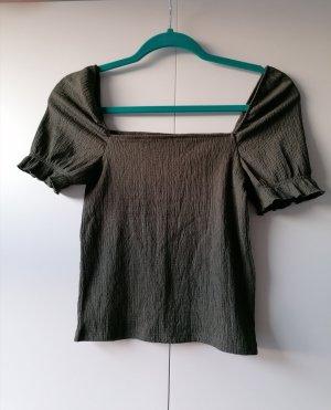 H&M Basic Top green-khaki