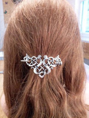 Hair Pin silver-colored metal