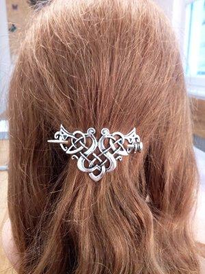 Wpinki do włosów srebrny Metal