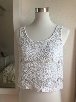 H&M Crochet Top white