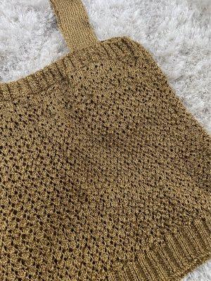 Handmade Crochet Top gold-colored