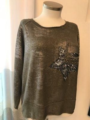 0039 Italy Sweatshirt argenté-kaki