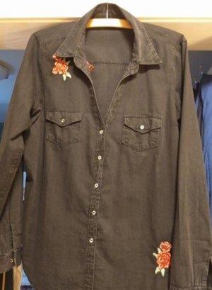 Guess Blouse en jean noir coton