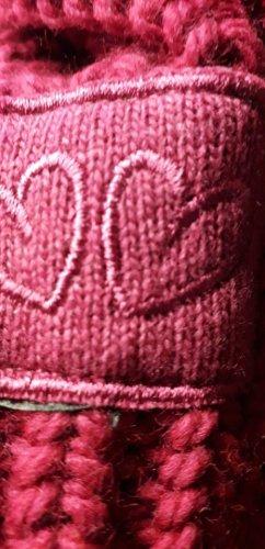 Zwillingsherz Knitted Scarf magenta