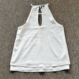 Only A Line Top white polyester