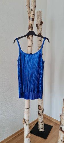 H&M Top o kroju litery A niebieski neonowy
