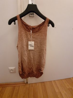 Cotton Candy Strappy Top bronze-colored