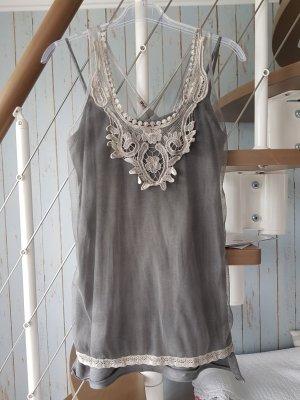 Motel Wraparound Shirt grey