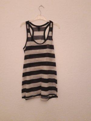 H&M Top o kroju litery A biały-czarny