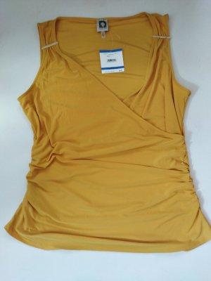 Anne Klein Wraparound Shirt yellow-gold orange