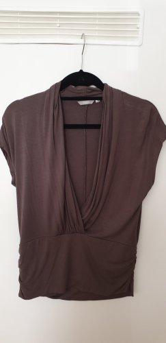 3 Suisses Camisa cruzada marrón grisáceo