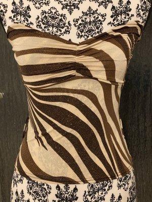Hauts épaule nues crème-brun