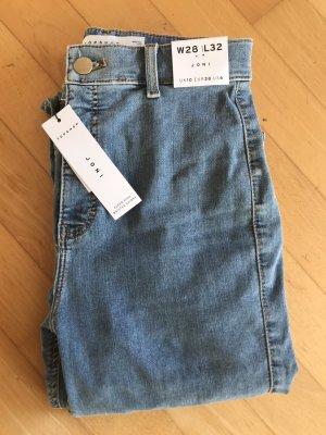 Topshop High Waist Jeans azure-steel blue