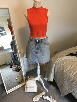 H&M Neckholder Top neon orange-orange