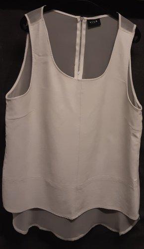 Vila Clothes Top o kroju litery A w kolorze białej wełny