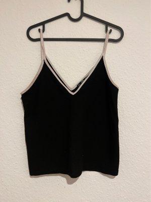 Zara Cropped top zwart-wit