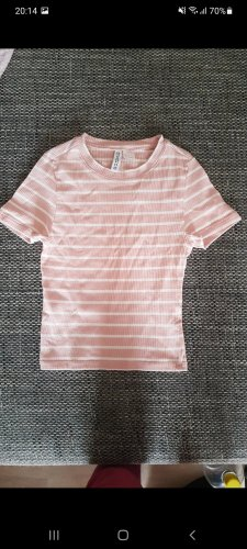 H&M Divided Basic topje wit-lichtroze