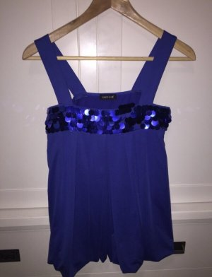 Laura Scott Top met spaghettibandjes blauw