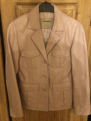 Ann LLewellyn Leather Jacket light pink