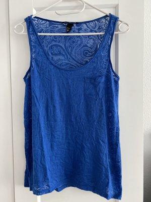 H&M Off-The-Shoulder Top blue polyester