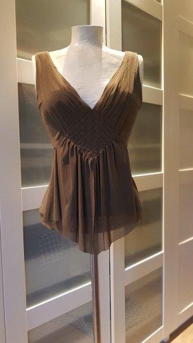 Mango Bluzka o kroju koszulki szaro-brązowy