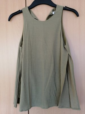 Mango Suit Cowl-Neck Top olive green