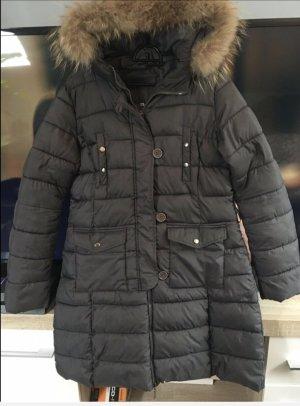 Top Mantel mit Echtfellkragen