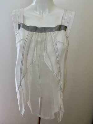 Marithé + Francois Girbaud Blouse Top white-silver-colored