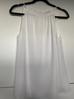 H&M Haut à volants blanc polyester