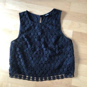 H&M Crochet Top black