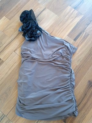Madonna Top monospalla marrone-grigio