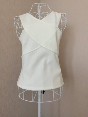 H&M Top cut-out bianco sporco