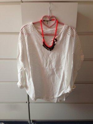 Długa koszulka biały