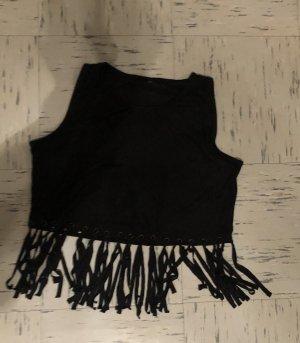 Bershka Crop-top noir