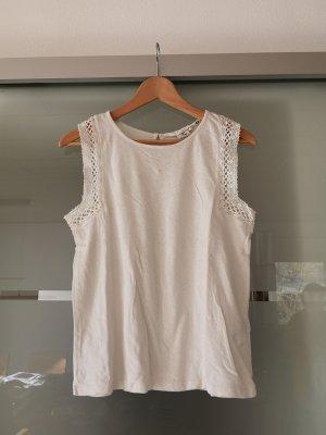 H&M L.O.G.G. Crochet Top natural white
