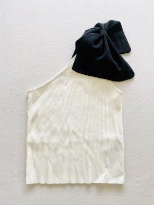 Zara One Shoulder Top natural white-black