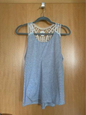 Crochet Top white-azure