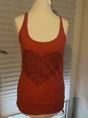 H&M Top o kroju litery A jasnoczerwony-ceglasty