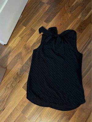 H&M Top z dekoltem typu halter ciemnoniebieski