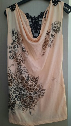 Blind Date Cowl-Neck Top pink