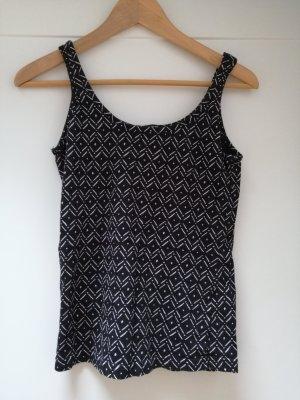 Tally Weijl Basic topje wit-zwart