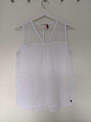 Only Siateczkowa koszulka biały