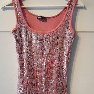 BSB Collection Haut à fines bretelles rose coton