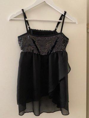 H&M Gehaakte top zwart