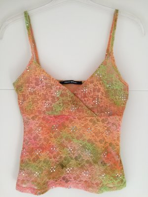 Tally Weijl Lace Top orange-meadow green polyester