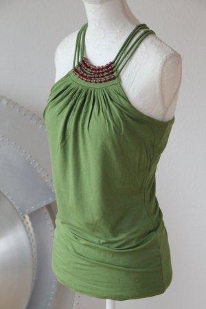 Alba Moda Bustier Top olive green-green